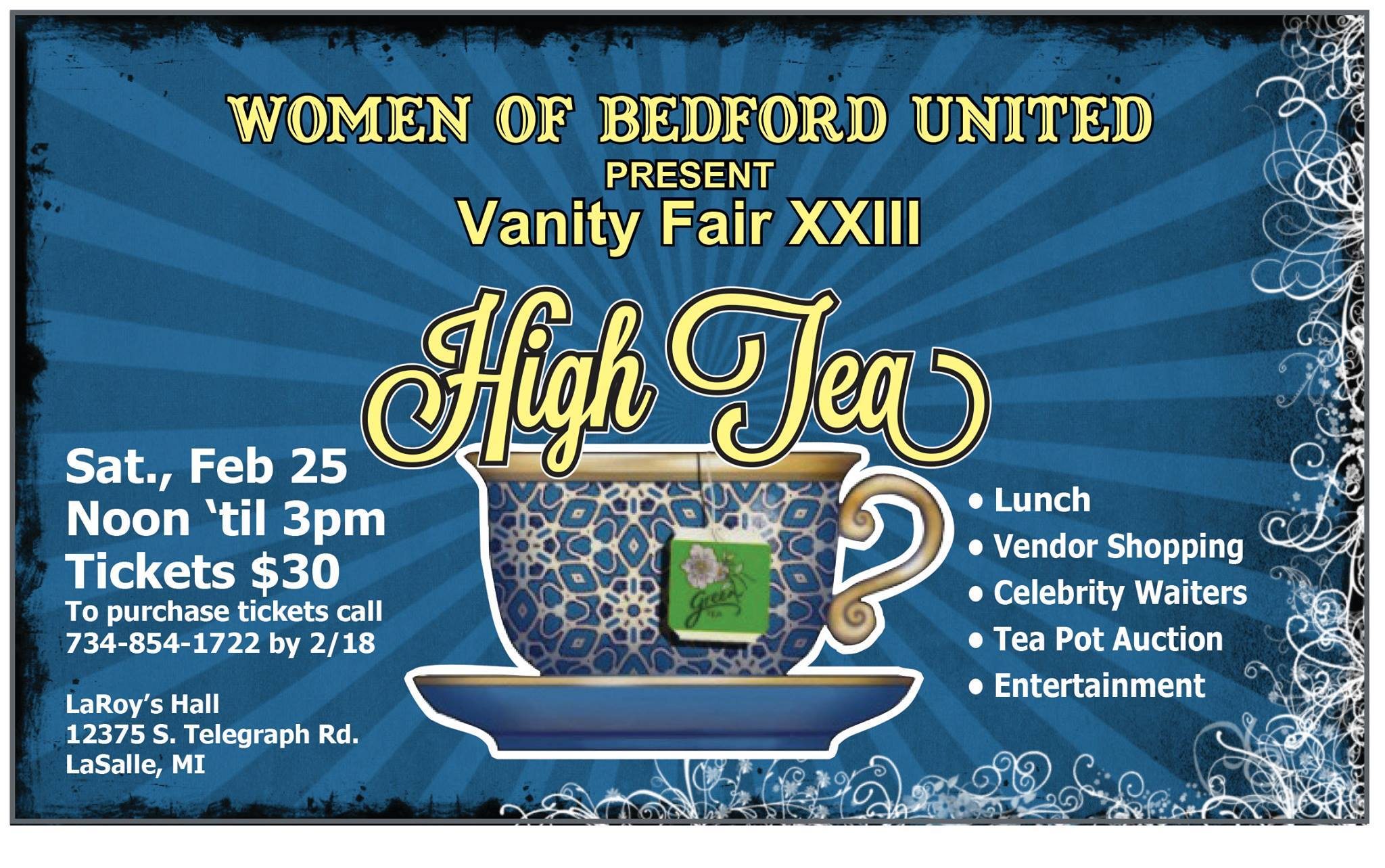 Get Your Tickets Now For The Annual Women Of Bedford United High Tea